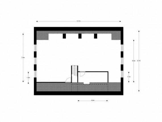 ZP 1 verdieping met maatvoering
