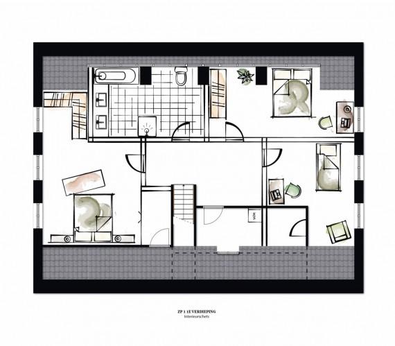 ZP1 interieursuggestie verdieping