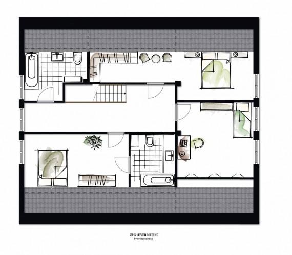 ZP5 verdieping interieurimpressie